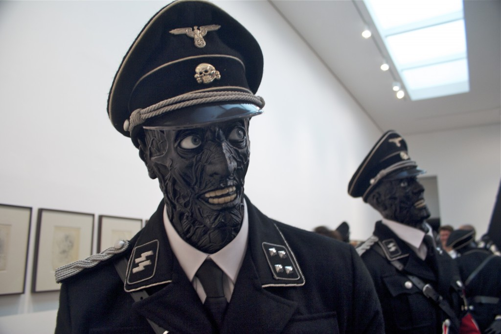 Nazi_zombies_-_Jake_or_Dinos_Chapman_show_at_the_White_Cube_Gallery_in_London